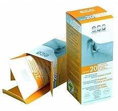 Духи, Парфюмерия, косметика Солнцезащитный крем SPF 20 с экстрактом граната и облепихи - Eco Cosmetics Suntan Cream SPF 20