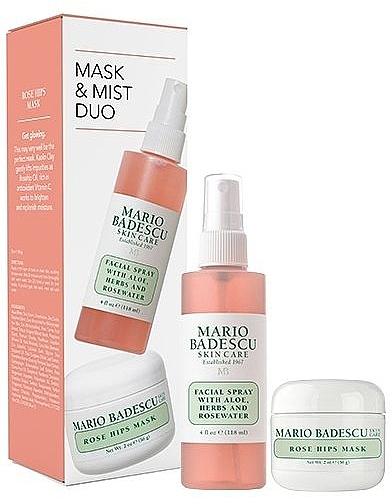Набор - Mario Badescu Rose Mask & Mist Duo Set (mask/56g+spray/118ml) — фото N1