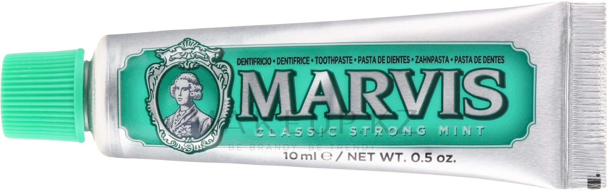 Зубная паста - Marvis Classic Strong Mint (мини) — фото 10 ml