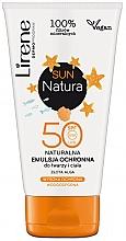 Духи, Парфюмерия, косметика Эмульсия для загара SPF 50+ - Lirene Sun Natura Sun Light Emulsion SPF 50+ Vege