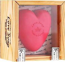 """Духи, Парфюмерия, косметика Натуральное мыло """"Сердце"""" в подарочной коробке - Essencias De Portugal Love Soap Wooden Box"""