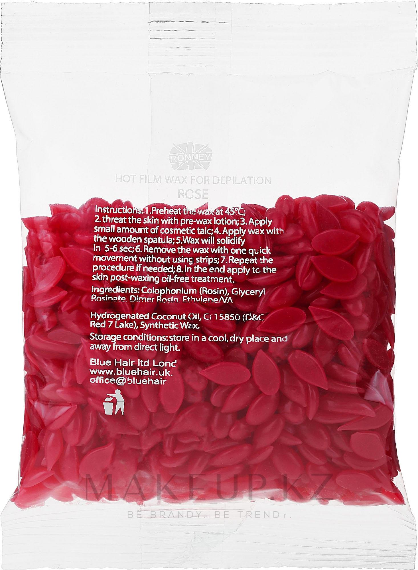 """Воск для депиляции в гранулах """"Роза"""" - Ronney Hot Film Wax Rose — фото 100 g"""