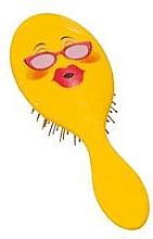 Духи, Парфюмерия, косметика Расческа для волос 2003W, смайлик с очками - IDC Design XL Detangle Brush