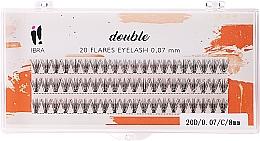 Духи, Парфюмерия, косметика Накладные пучки, C 8 mm - Ibra 20 Flares Eyelash Knot Free Naturals
