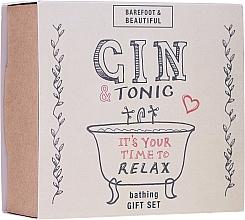 Духи, Парфюмерия, косметика Набор - Bath House Barefoot & Beautiful Gin and Tonic Bathing Gift Set (lip/balm/15g + bath/soak/60ml + bath/salt/60g)