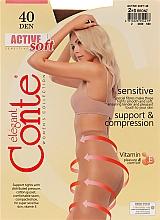 """Духи, Парфюмерия, косметика Колготки """"Active Soft"""" 40 Den, bronz - Conte"""
