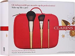 Духи, Парфюмерия, косметика Набор кистей для макияжа - Clarins (brush/3pcs + bag)