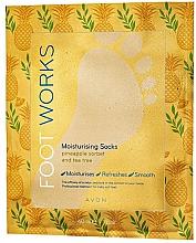 Духи, Парфюмерия, косметика Увлажняющая маска для ног в виде носочков с ананасом и чайным деревом - Avon Foot Works Mask For Legs