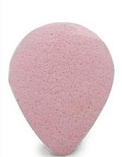 Духи, Парфюмерия, косметика Спонж для умывания, капля, с розовой глиной - Bebevisa Konjac Sponge