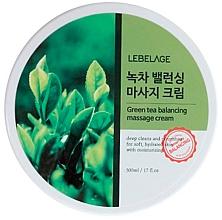Духи, Парфюмерия, косметика Восстанавливающий баланс массажный крем с зеленым чаем - Lebelage Green Tea Balancing Massage Cream