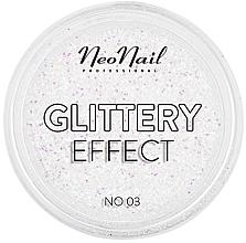 Духи, Парфюмерия, косметика Блестящая пудра для дизайна ногтей - NeoNail Professional Glittery Effect