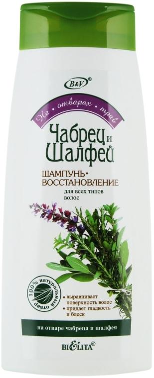 """Шампунь-восстановление """"Чабрец и Шалфей"""" для всех типов волос - Bielita — фото N1"""