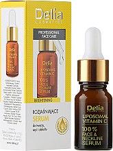 Духи, Парфюмерия, косметика Сыворотка для лица, шеи и декольте - Delia Liposomal Vitamin C 100% Face Neckline Serum Anti Wrinkle Treatment