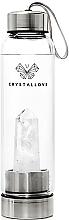Духи, Парфюмерия, косметика Бутылка с кристаллами белого кварца, 500мл - Crystallove