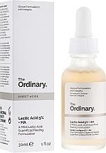 Духи, Парфюмерия, косметика Сыворотка-пилинг для лица с молочной кислотой - The Ordinary Lactic Acid 5% + HA 2%