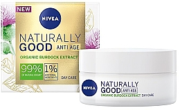 Духи, Парфюмерия, косметика Дневной крем против морщин - Nivea Naturally Good Anti Age Day Cream Organic Burdock Extract
