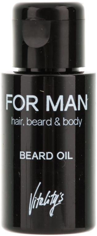 Масло для бороды - Vitality's For Man Beard Oil — фото N1