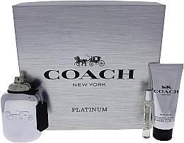 Духи, Парфюмерия, косметика Coach Platinum - Набор (edp/100ml + edp/7.5ml + s/g/100ml)