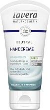 Духи, Парфюмерия, косметика Крем для рук - Lavera Neutral Green Ultra Sensitive Complex Hand Cream
