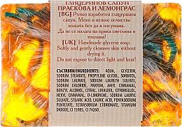 """Глицериновое мыло """"Персик и лемонграсс"""" - Bulgarian Rose Peach & Lemongrass Soap — фото N2"""