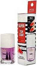 Духи, Парфюмерия, косметика Закрепитель для лака с эффектом мега-блеска - Delia Super Gloss Top Coat