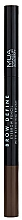Духи, Парфюмерия, косметика Карандаш для бровей - MUA Brow Define Eyebrow Pencil With Blending Brush (Dark Brown)