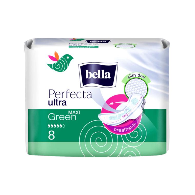 Прокладки Perfecta Green Maxi Drai Ultra, 8шт - Bella — фото N1
