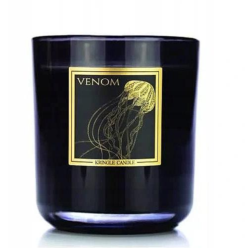 Ароматическая свеча в стакане - Kringle Candle Venom Black Jar Candle — фото N1
