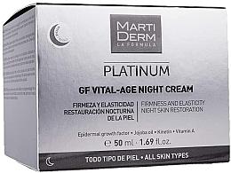 Духи, Парфюмерия, косметика Ночной крем для лица - MartiDerm Platinum Gf Vital Age Night Cream