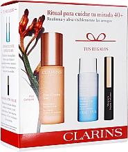 Духи, Парфюмерия, косметика Набор - Clarins Extra-Firming Yeux Set (eye/ser/15ml+makeup/remover/30ml+mascara/3ml)
