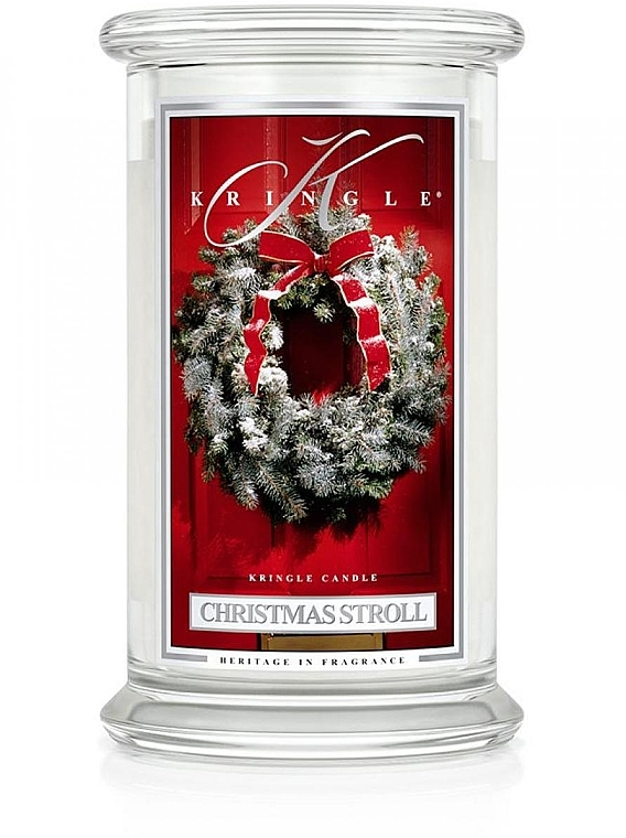 Ароматическая свеча в банке - Kringle Candle Christmas Stroll — фото N1