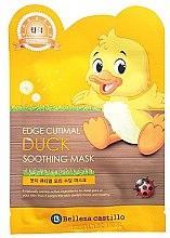 "Духи, Парфюмерия, косметика Тканевая маска для лица ""Утка"" - Belleza Castillo Edge Cutimal Duck Soothing Mask"