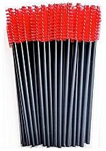 Духи, Парфюмерия, косметика Нейлоновые щеточки для ресниц, черно-красные - Novalia Group