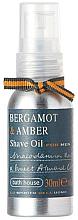 Духи, Парфюмерия, косметика Bath House Bergamot & Amber - Масло для бритья