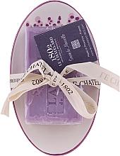 """Духи, Парфюмерия, косметика Мыло овальное с керамической мыльницей """"Лаванда"""" - Le Chatelard 1802 Lavender Soap"""