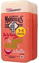 Духи, Парфюмерия, косметика Набор - Le Petit Marseillais Rhubarb Shower Gel (sh/gel/2x250ml)