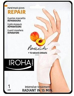 Маска для рук - Iroha Nature Repair Peach Hand Mask Gloves — фото N1