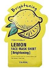 Духи, Парфюмерия, косметика Листовая маска для лица - Tony Moly I'm Real Lemon Mask Sheet