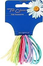 Духи, Парфюмерия, косметика Резинки для волос тонкие 24шт, микс цветов, 22173 - Top Choice