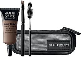 Духи, Парфюмерия, косметика Набор - Make Up For Ever Aqua Brow Eyebrow Corrector Kit (corrector/7ml+brush/2pcs+bag) (15 -Light Brown)