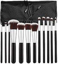 Духи, Парфюмерия, косметика Набор профессиональных кистей для макияжа, 12шт, черный - Tools For Beauty