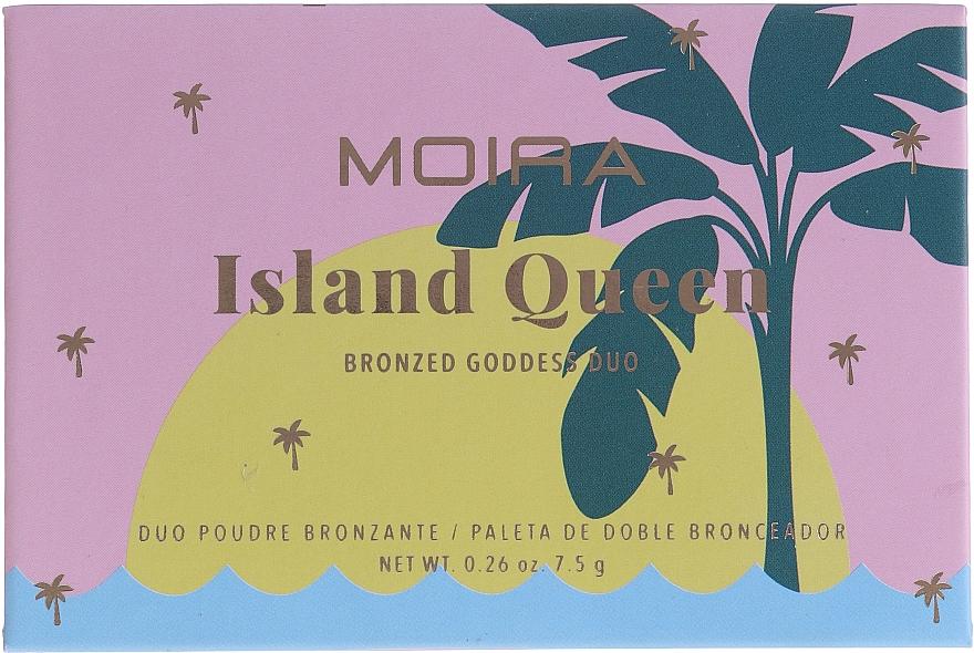 Бронзер для лица - Moira Island Queen Bronzed Goddess Duo — фото N2