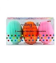 Духи, Парфюмерия, косметика Набор - Rolling Hills Makeup Blender Macarons Set (blender/3pcs)