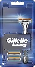 Духи, Парфюмерия, косметика Бритва с 6 сменными кассетами - Gillette Sensor 3