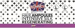 Духи, Парфюмерия, косметика Ампулы для разглаживания волос - Ronney Professional Hair Ampoules Intensive Silk Regenerating