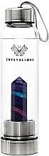 Духи, Парфюмерия, косметика Бутылка с кристаллами радужного флюорита, 500мл - Crystallove