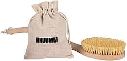 Духи, Парфюмерия, косметика Щетка для массажа тела с волокном тампико, с двойным изгибом - Hhuumm № 6