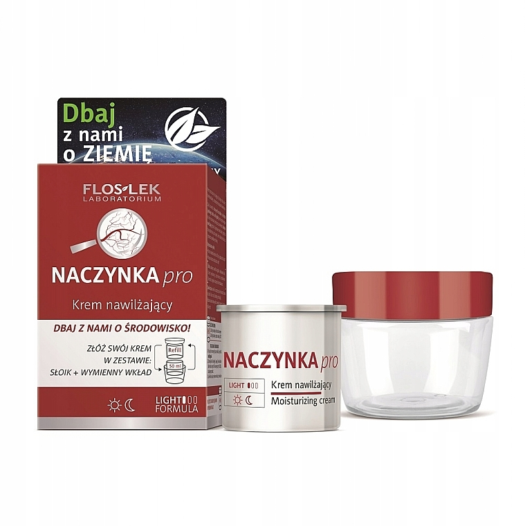 Набор - Floslek Dilated Capillaries Moisturizing (f/cr/refill/50ml + jar) — фото N1