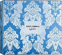 Духи, Парфюмерия, косметика Dolce & Gabbana Light Blue - Набор (edt/100ml + b/cr/50ml + edt/10ml)