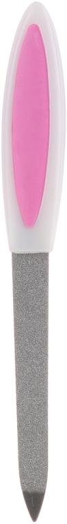Пилочка сапфировая для ногтей 13.5см, бело-розовая, 77104 - Top Choice — фото N1